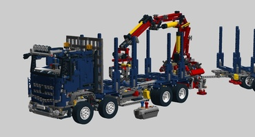 Набор LEGO MOC-13030 Mercedes Arocs timber truck