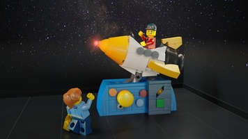 Набор LEGO MOC-13356 Coin Operated Rocket Ride