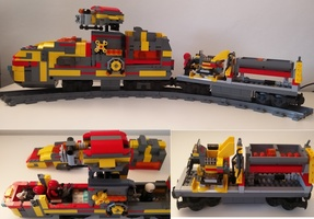 Набор LEGO MOC-13517 Privateer Mining Train