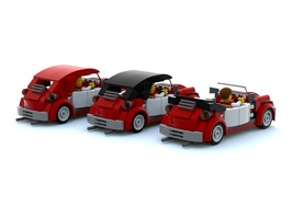 Набор LEGO MOC-13714 VW Beetle revision mk2 smaller rear end