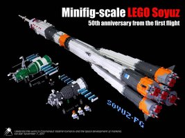 Набор LEGO MOC-13775 Minifig-scale LEGO Soyuz -50th anniversary from the first flight-