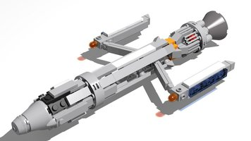 Набор LEGO MOC-13987 The Phoenix (Star Trek)