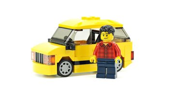 Набор LEGO MOC-14947 Yellow car for camper trailer
