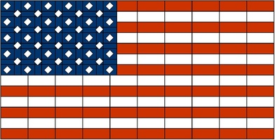 Набор LEGO MOC-15229 The flag of the United States of America (larger version)
