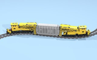 Набор LEGO MOC-15642 32-Wheel Gooseneck Wagons with Transformer
