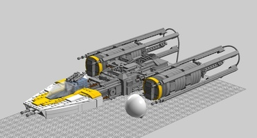 Набор LEGO MOC-15734 Minifig Scale Y-Wing