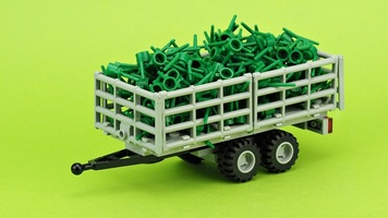 Набор LEGO MOC-15742 Trailer for green tractor