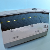 Набор LEGO MOC-16404 Modular Curved Road Section with Sidewalk