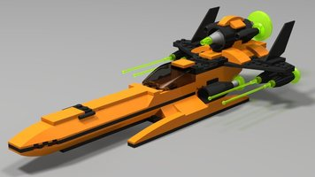Набор LEGO MOC-16573 Orange Space Fighter
