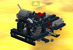 Набор LEGO MOC-16916 Drivetrain for jeep/trial truck with el. gearbox