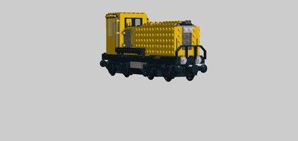 Набор LEGO MOC-17353 yellow cargo locomotive