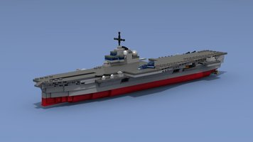 Набор LEGO MOC-17428 Aircraft carrier &Clemenceau&, 1:700 scale