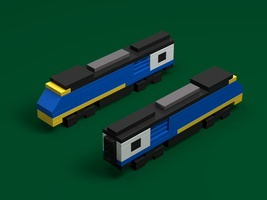 Набор LEGO MOC-18627 BR Blue HST Power Cars (Micro)