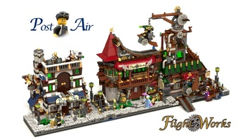Набор LEGO MOC-19002 Flight Works + Post Air