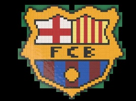 Набор LEGO MOC-20770 Football Club Barcelona logo