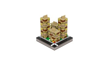Набор LEGO MOC-21097 T77 Micropolis - Brick Yellow Residential Court