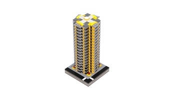 Набор LEGO MOC-21110 T77 Micropolis - Grey&Yellow Residential Tower