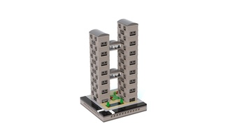 Набор LEGO MOC-21138 T77 Micropolis - Two Towers Bridge Apartments