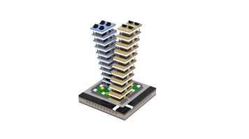 Набор LEGO MOC-21235 T77 Micropolis - Leaning Towers Apartments