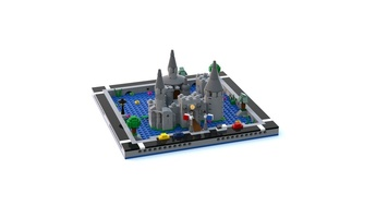 Набор LEGO MOC-21347 T77 Micropolis - Ancient Moat Castle