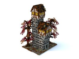 Набор LEGO MOC-21731 Medieval castle tower