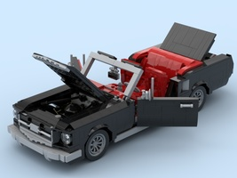 Набор LEGO MOC-21809 1964 1/2 Mustang Black/Red