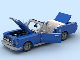 Набор LEGO MOC-21810 1964 Mustang Blue/white
