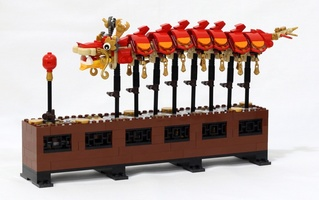 Набор LEGO MOC-21852 Smooth Motion Dragon Dance Modification