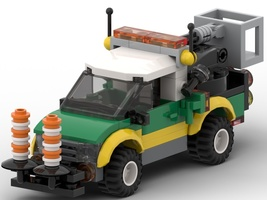 Набор LEGO MOC-22342 PickUp for the power-line and lamp post