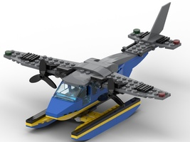 Набор LEGO MOC-22347 Seaplane with 2 propellers