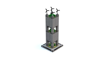 Набор LEGO MOC-22386 T77 Micropolis - Vertical City Tower