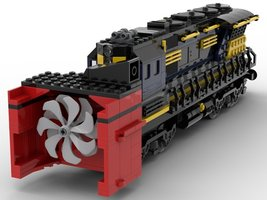 Набор LEGO MOC-22411 Train engine with Snowblower