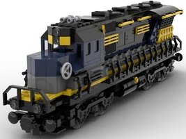 Набор LEGO MOC-22441 Train engine (Large end engine)