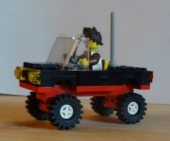 Набор LEGO MOC-22445 Black car 4x4 modification of 6627