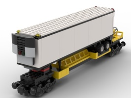 Набор LEGO MOC-22454 Wagon for trailor container and refrigerated