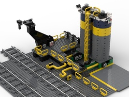 Набор LEGO MOC-22513 Octan's fuel dock depot for train