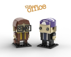 Набор LEGO MOC-22533 The Office Brickheadz Collection - Dwight Schrute and Prison Mike