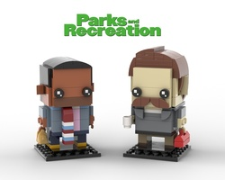 Набор LEGO MOC-22535 Parks and Recreation Brickheadz Collection - Tom Haverford and Ron Swanson