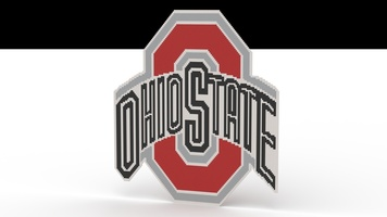 Набор LEGO MOC-22579 The Ohio State University Logo - Vertical Mosaic