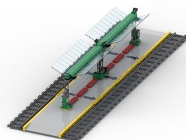 Набор LEGO MOC-22682 Station transit for tramway (Version 2)