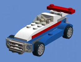 Набор LEGO MOC-5996 31027 - Custom Racing Car