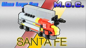 Набор LEGO MOC-6008 Mini Diesel Train Santa Fe