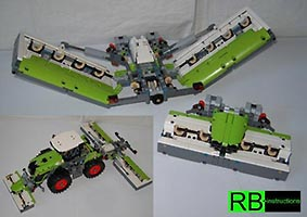 Набор LEGO MOC-6147 Mower for Claas Xerion 5000 (Mähwerk)