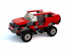 Набор LEGO MOC-6232 Jeep With Working Suspension