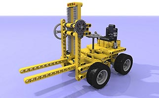 Набор LEGO MOC-6619 Studless Remake Classic 850 Forklift