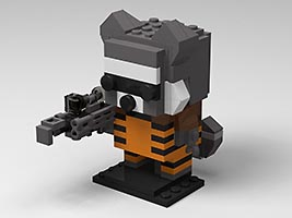 Набор LEGO MOC-6659 Rocket Raccoon Brickheadz