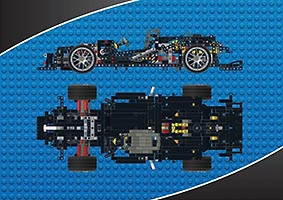Набор LEGO MOC-6667 Mercedes-Benz AMG C63 DTM - manual chassis (only)