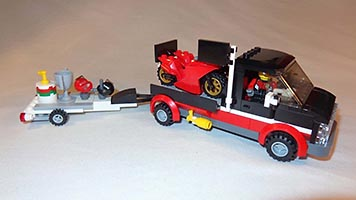 Набор LEGO MOC-6771 60084 Bigger racing bike transporter