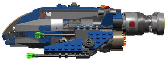 Набор LEGO MOC-6830 Raptor Planetary Superiority Fighter