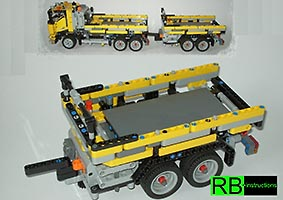 Набор LEGO MOC-7149 Trailer for 8292 B-Modell with Power Functions